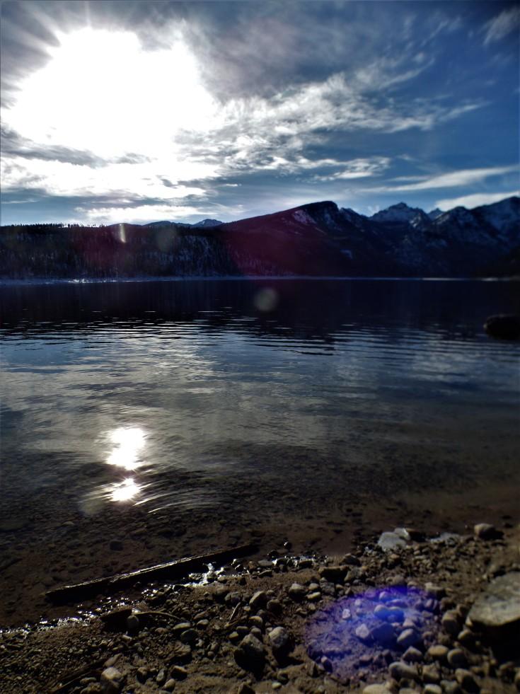 Lake and sun