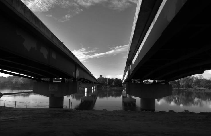 kaw river under gridge art