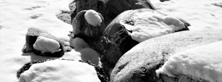 rocks and snow 1